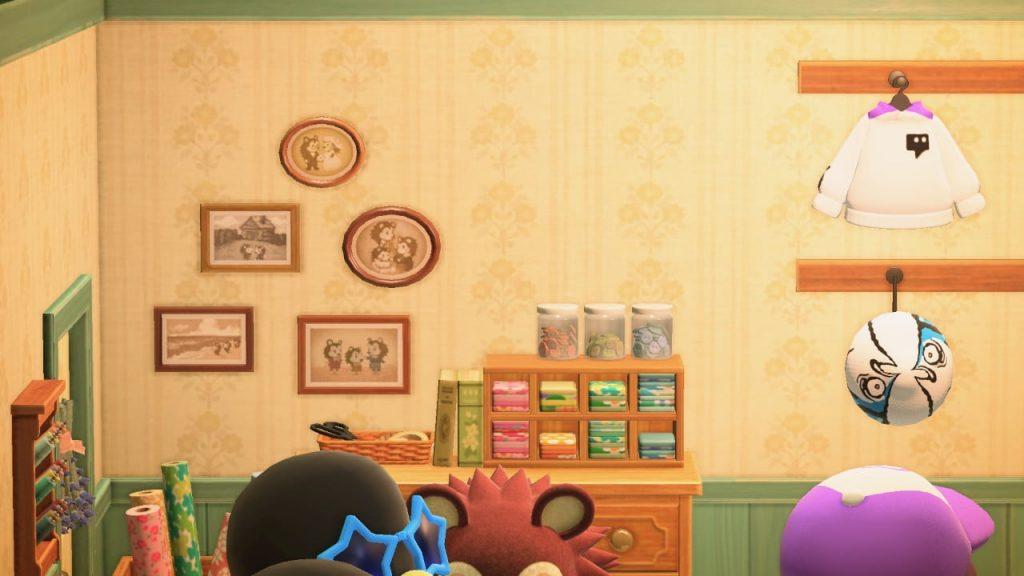 動森裁縫店的家庭照片